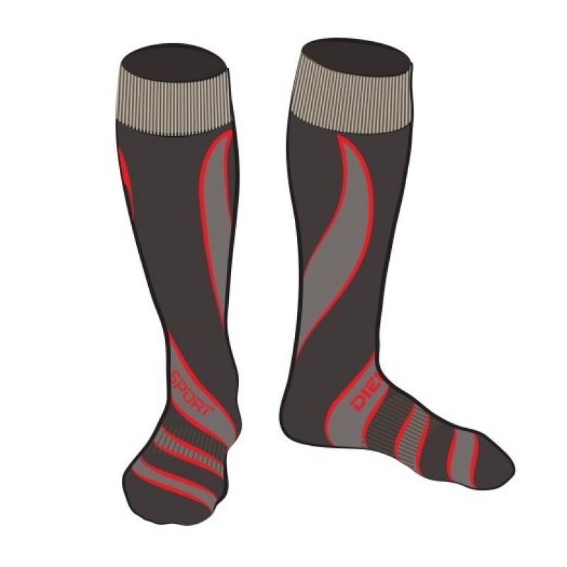 7885503cde1 DIEL SPORT 55771 B чорапи за ски Диел Спорт мъжки дамски юношески сиво и  червено скиорски колекция 2017 2018