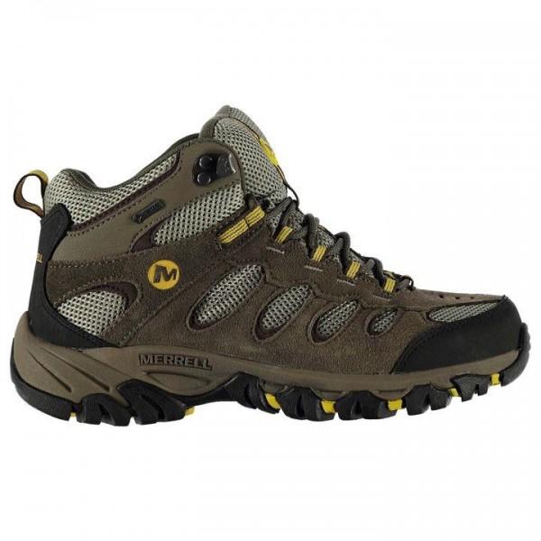Merrell Ridgepass Mid GTX мъжки дишащи водонепромокаеми обувки боти Mens Walking Boots кафяви бежови