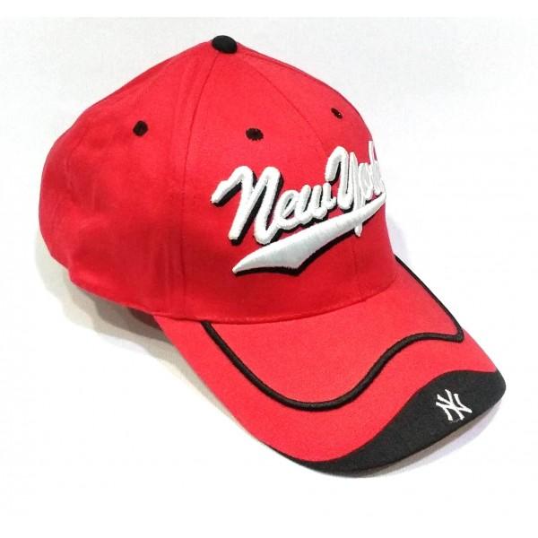 New Yorker бейзболна шапка памук червена