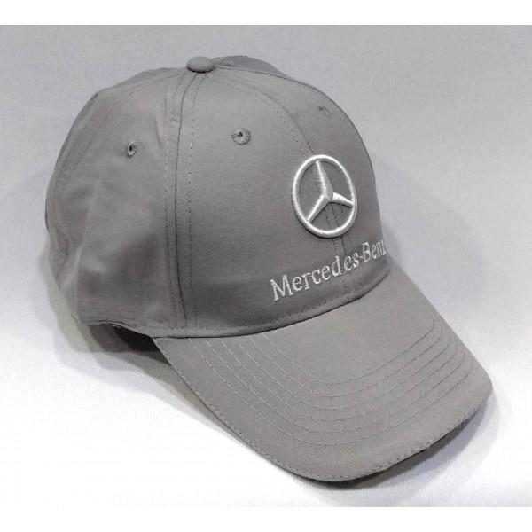 Mercedes бейзболна шапка с козирка МЕРЦЕДЕС памук сива