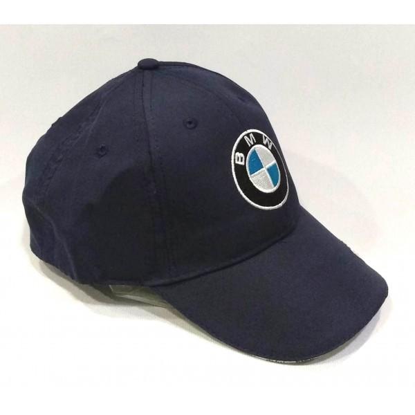 BMW бейзболна шапка с козирка БМВ памук тъмно синя