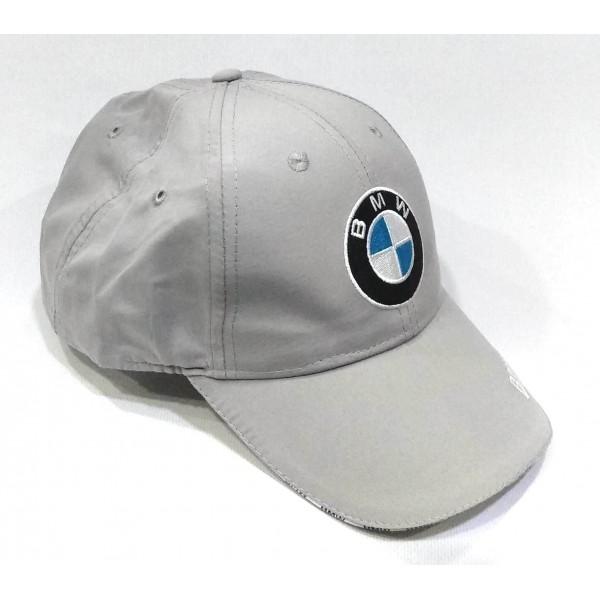 BMW бейзболна шапка с козирка БМВ памук сива