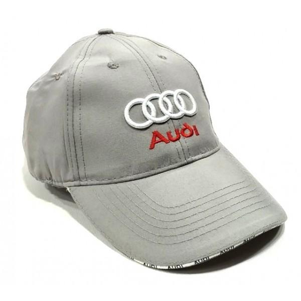 Audi бейзболна шапка Ауди сива памук