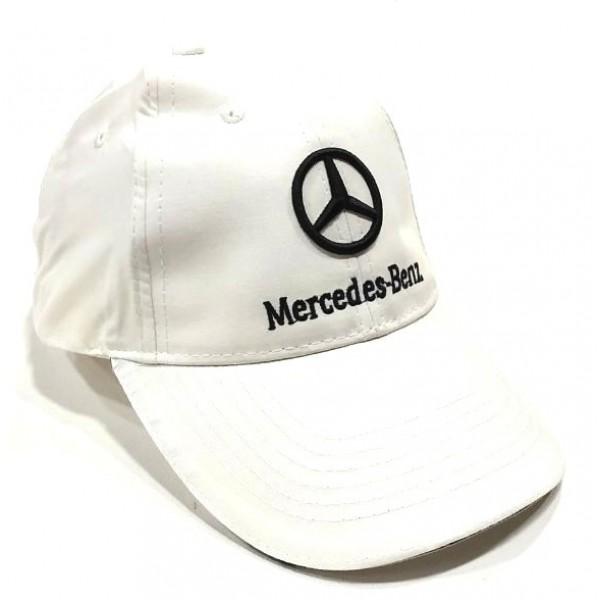 Mercedes бейзболна шапка Мерцедес микрофибър бяла