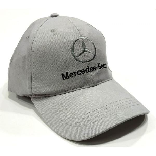 Mercedes бейзболна шапка Мерцедес микрофибър сива