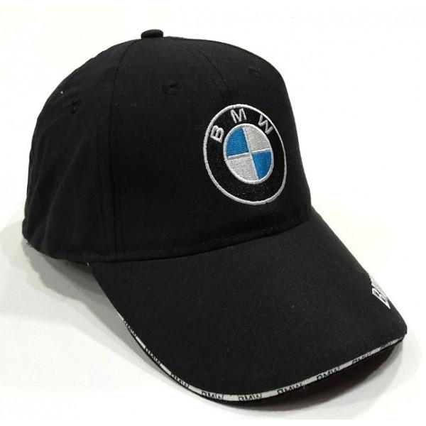 BMW бейзболна шапка черна микрофибър с козирка