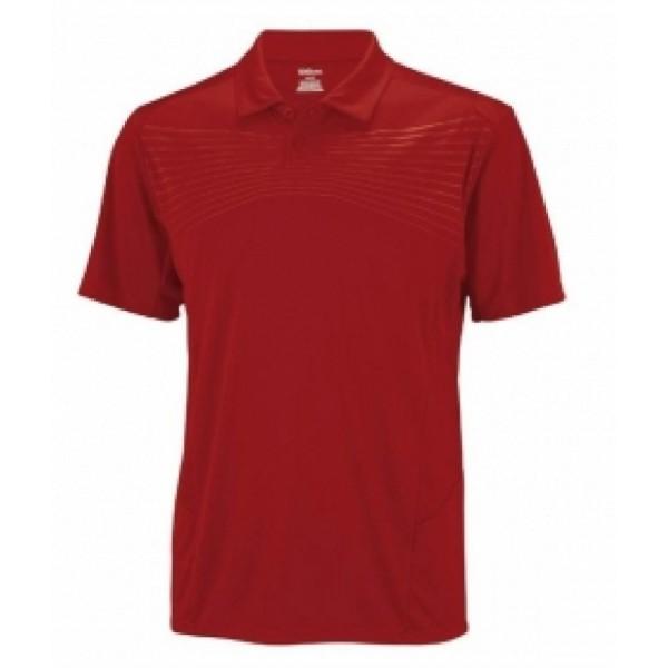 Wilson Solana Emboss мъжка спортна тениска за тенис на корт Polo Shirt Mens  оригинална тъмно червена бордо