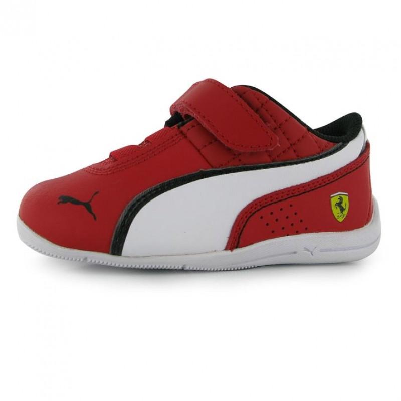 9dc8ac8d41d Puma детски маратонки Puma DCat Scuderia Ferrari Childrens Trainers  естествена и изкуствена кожа червени Пума Ферари оригинални