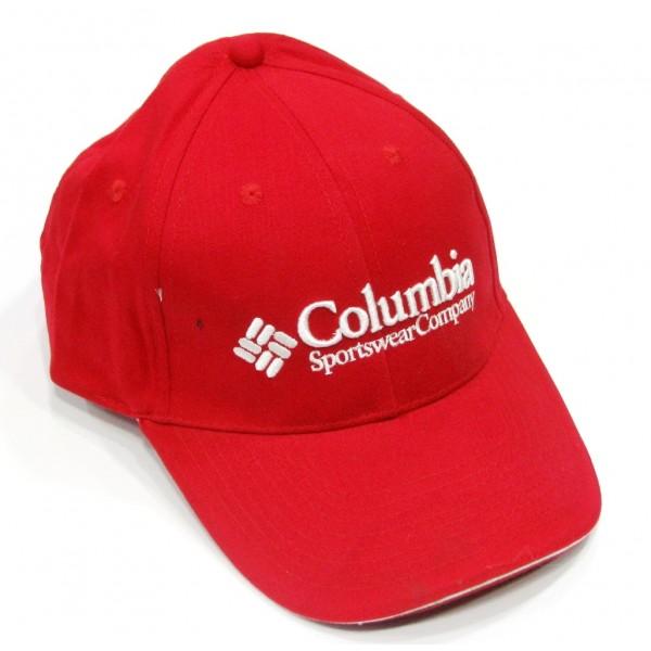 Columbia бейзболна шапка червена памук с козирка