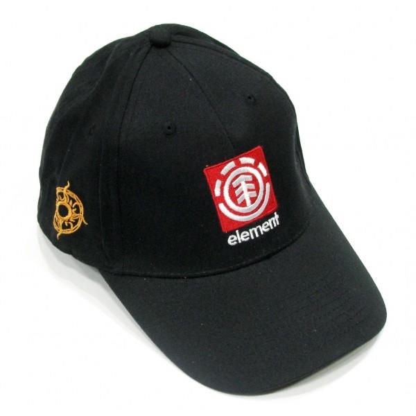 Element flexfit бейзболна шапка без регулатор черна с козирка