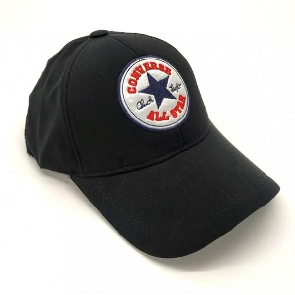 CONVERSE бейзболна шапка черна с козирка микрофибър