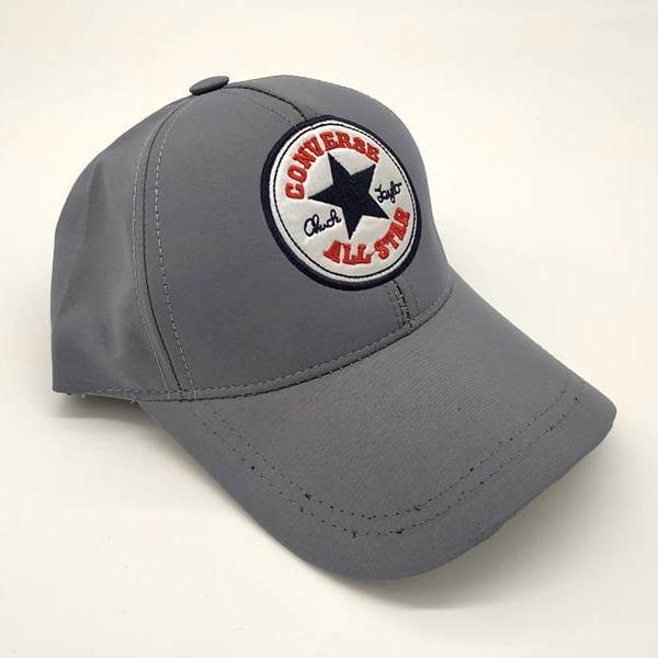 CONVERSE бейзболна шапка сива с козирка микрофибър