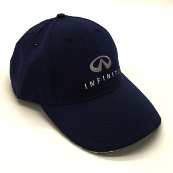 INFINITI бейзболна шапка микрофибър с козирка тъмно синя