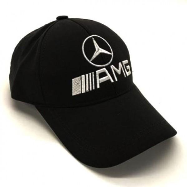 Mercedes-AMG бейзболна шапка микрофибър с козирка черна