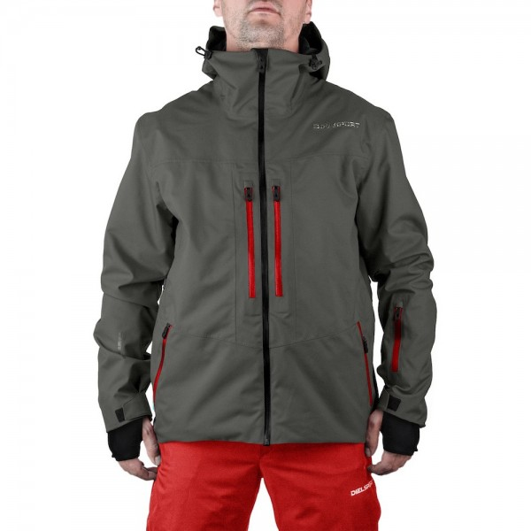 DIEL SPORT Damon 17769 A Мъжко яке за ски сноуборд 10000 мм воден стълб сиво