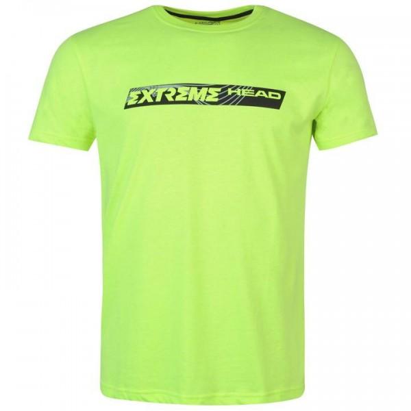 HEAD Extreme мъжка спортна тениска за тенис на корт T Shirt Mens оригинална зелена