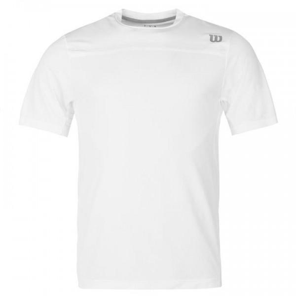 Wilson Woven Crew мъжка спортна тениска за тенис на корт Polo Mens  оригинална бяла