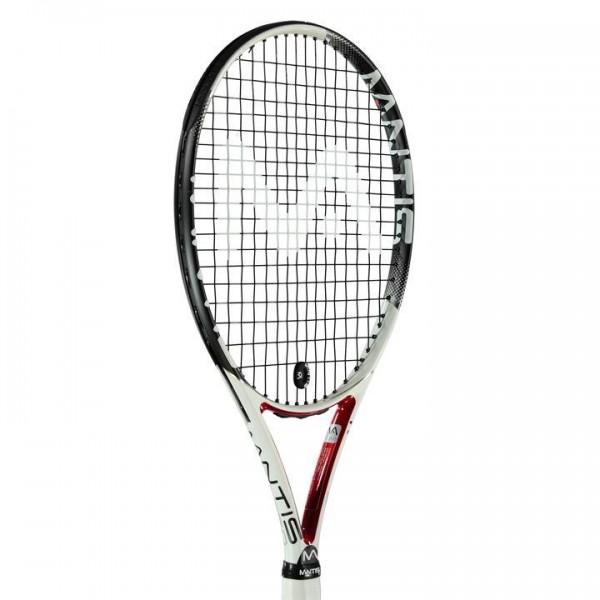 Mantis 250 тенис ракета Tennis Racket за тенис на корт висок клас бяла черна червена  L4