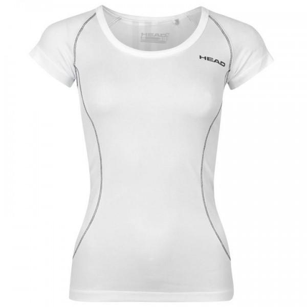 HEAD Club дамска блуза с къс ръкав за тенис на корт спортна оригинална бяла