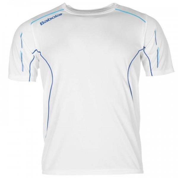 Babolat Core мъжка спортна тениска за тенис на корт Tennis Tshirt Mens оригинална бяла