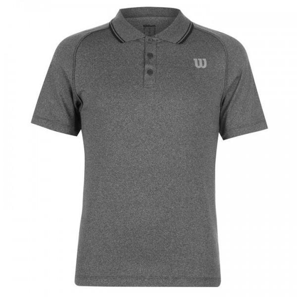 Wilson Core Polo Shirt мъжка спортна тениска за тенис на корт Polo Shirt Men оригинална сива оригинална промоция ниска цена